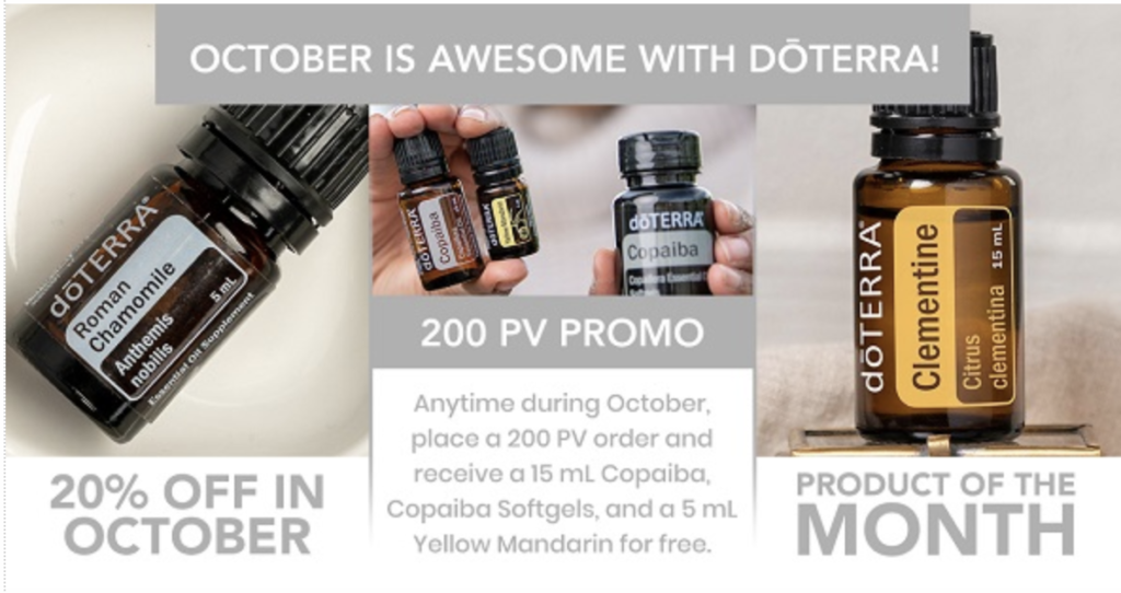 October 2019 doTERRA Promotions