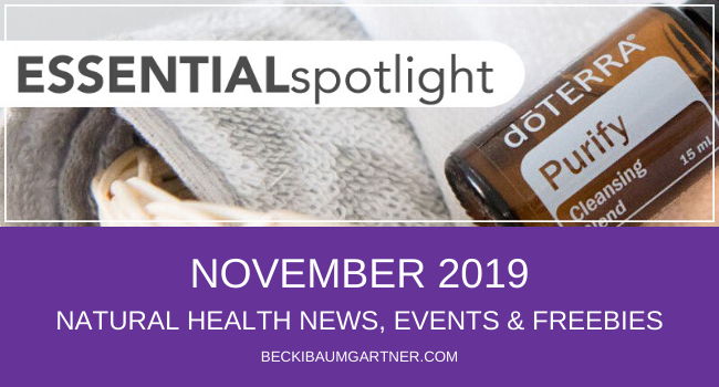 November 2019 Natural Health News, Events & Freebies