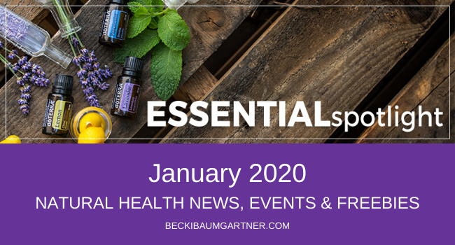 January 2020 Natural Health News, Events & Freebies Graphic